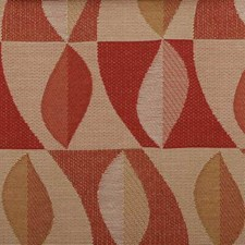 Red Pepper Abstract Drapery and Upholstery Fabric by Duralee