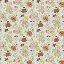 Dusty Rose Floral Drapery and Upholstery Fabric by Trend