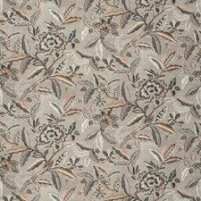 Coral Stone Floral Drapery and Upholstery Fabric by Fabricut