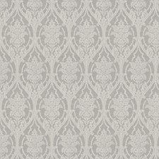 Winter Damask Drapery and Upholstery Fabric by Vervain