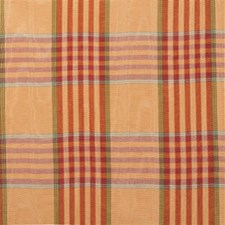Pumpkin Plaid Drapery and Upholstery Fabric by Lee Jofa