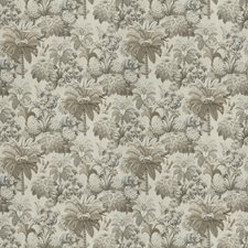 White Sierra Leaves Drapery and Upholstery Fabric by S. Harris