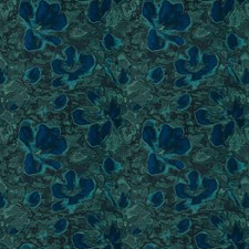 Bluejade Floral Drapery and Upholstery Fabric by S. Harris