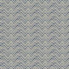 Cobalt Chevron Drapery and Upholstery Fabric by Vervain