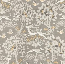 Silver Animal Drapery and Upholstery Fabric by Lee Jofa