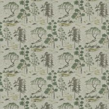 Celadon Asian Drapery and Upholstery Fabric by Fabricut