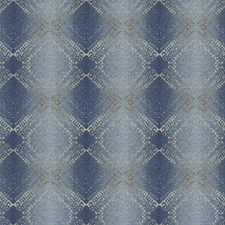 Denim Geometric Drapery and Upholstery Fabric by Trend