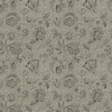 Dove Floral Drapery and Upholstery Fabric by Trend