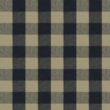 Indigo Check Drapery and Upholstery Fabric by Fabricut