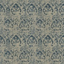 Navy Print Pattern Drapery and Upholstery Fabric by Fabricut
