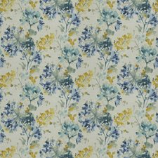 Cornflower Floral Drapery and Upholstery Fabric by Trend