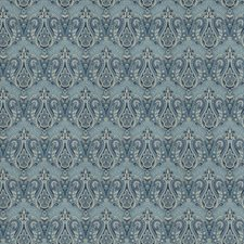 Porcelain Paisley Drapery and Upholstery Fabric by Trend