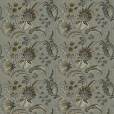 Cumin Embroidery Drapery and Upholstery Fabric by Stroheim
