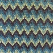 Wavy Blue Drapery and Upholstery Fabric by Scalamandre