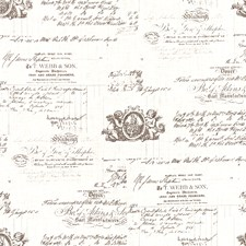 White/Grey/Black Toile Drapery and Upholstery Fabric by Kravet