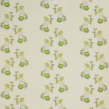 Tropical Yellow Botanical Drapery and Upholstery Fabric by Andrew Martin