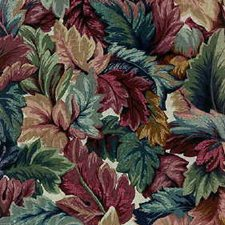 Blue/Burgundy/Red Botanical Drapery and Upholstery Fabric by Kravet