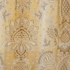 Ochre Drapery and Upholstery Fabric by Scalamandre