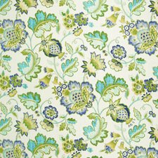 Caribbean Floral Drapery and Upholstery Fabric by Greenhouse