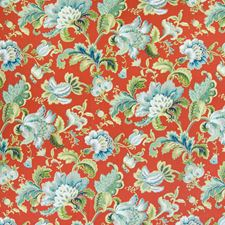 Lacquer Floral Drapery and Upholstery Fabric by Greenhouse