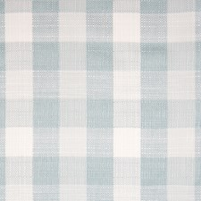 Aqua Plaid Check Drapery and Upholstery Fabric by Greenhouse