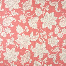 Rose Red Floral Drapery and Upholstery Fabric by Greenhouse