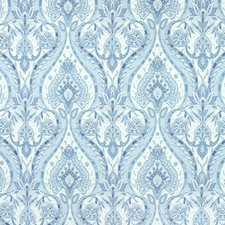 Cornflower Scroll Drapery and Upholstery Fabric by Greenhouse