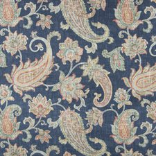 Sapphire Scroll Drapery and Upholstery Fabric by Greenhouse