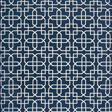 Classic Navy Lattice Drapery and Upholstery Fabric by Greenhouse