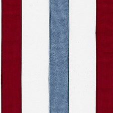 Red/Blue Drapery and Upholstery Fabric by Scalamandre