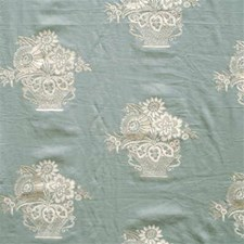 Seafoam Botanical Drapery and Upholstery Fabric by G P & J Baker