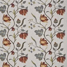 Pimento Botanical Drapery and Upholstery Fabric by G P & J Baker