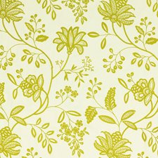 Lime Embroidery Drapery and Upholstery Fabric by G P & J Baker