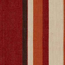 Red/Orange Stripes Drapery and Upholstery Fabric by G P & J Baker