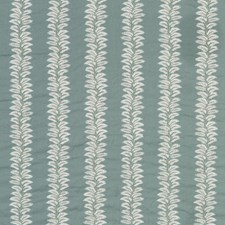 Teal Embroidery Drapery and Upholstery Fabric by G P & J Baker