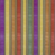 Spice/Magenta/Celadon Velvet Drapery and Upholstery Fabric by G P & J Baker