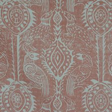 Coral Animal Drapery and Upholstery Fabric by Lee Jofa