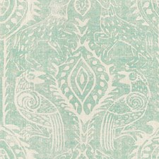 Aqua Animal Drapery and Upholstery Fabric by Lee Jofa