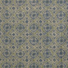 Blue/Green Print Drapery and Upholstery Fabric by Lee Jofa