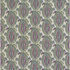 Pink/Blue Paisley Drapery and Upholstery Fabric by Lee Jofa