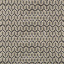 Navy Geometric Drapery and Upholstery Fabric by Lee Jofa