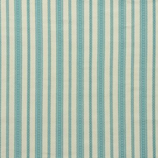 Turquoise Stripes Drapery and Upholstery Fabric by Lee Jofa