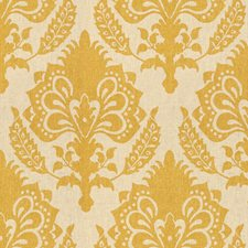 Gold Damask Drapery and Upholstery Fabric by G P & J Baker