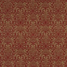 Red/Sand Print Drapery and Upholstery Fabric by G P & J Baker