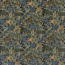 Dark Indigo/Teal Print Drapery and Upholstery Fabric by G P & J Baker