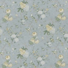 Soft Blue Animal Drapery and Upholstery Fabric by G P & J Baker
