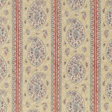 Red/Blue Print Drapery and Upholstery Fabric by G P & J Baker
