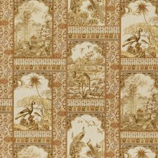 Tobacco Toile Drapery and Upholstery Fabric by G P & J Baker