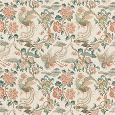 Teal Animal Drapery and Upholstery Fabric by G P & J Baker