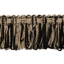 Cut Fringe Black and Taupe Trim by Brunschwig & Fils